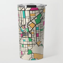Colorful City Maps: Adelaide, South Australia Travel Mug