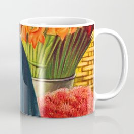 Woman with Calla Lilies (Mujer Con Flores) by Miguel Covarrubias Coffee Mug