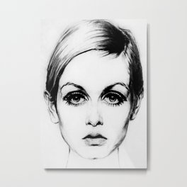 60's Eyelashes Metal Print