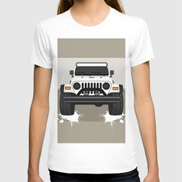 [JEEP] White TJ T-shirt