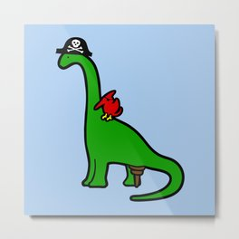 Pirate Dinosaur - Brachiosaurus Metal Print
