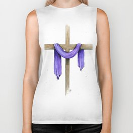 Purple Cross Biker Tank