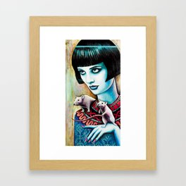 Diana and the Rats Framed Art Print