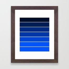 Infantry Blue Ombre Framed Art Print