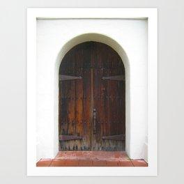 Santa Cruz Door Art Print