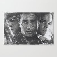 harry potter Canvas Prints featuring Harry Potter by fabio verolino