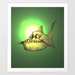Piranha (back lit) Art Print