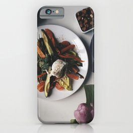 Paleo breakfast with vegetables avocado and nuts iPhone Case
