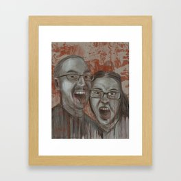Rob and Kristine might be Zombies Framed Art Print