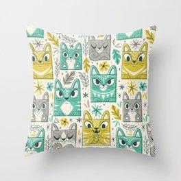 Tiki Kitty Throw Pillow