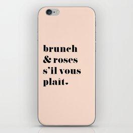 Brunch & Roses iPhone Skin