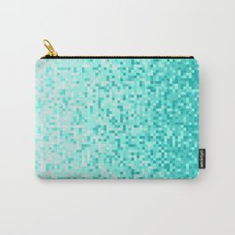 Sky Blue Pixilated Gradient Carry-All Pouch