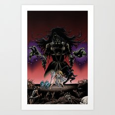 Monsters Among Us: A War of Witches Cover Art Print