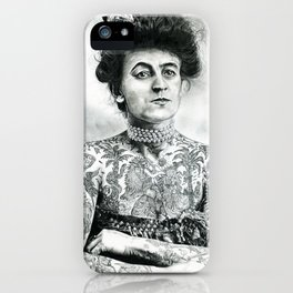 Inked Victorian Lady iPhone Case