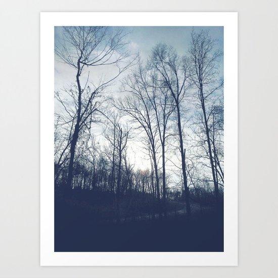Blue Vanilla Art Print