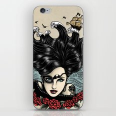 Pirate Queen (Color) iPhone & iPod Skin