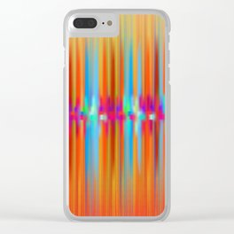 Seismic Shift Fiery Clouds Clear iPhone Case