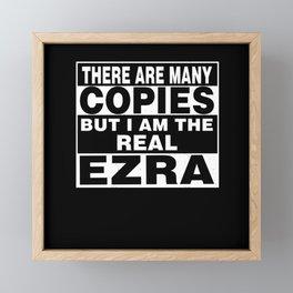 I Am Ezra Funny Personal Personalized Fun Framed Mini Art Print