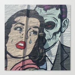 Undead Romance in Miami Canvas Print