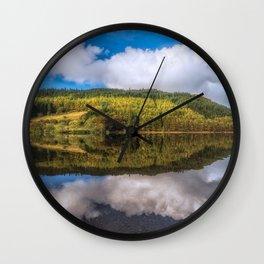 Geirionydd Lake Reflections Wall Clock