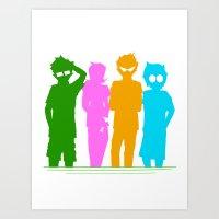 homestuck Art Prints featuring Homestuck Alpha Kids by Crimsonreaper67