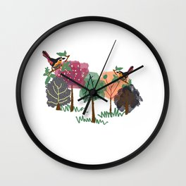 Nature's Essences Collection-White  Wall Clock