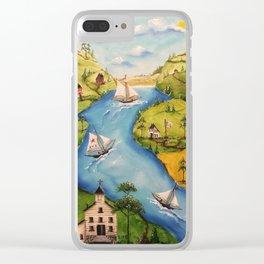 Hudson Vally Regatta Clear iPhone Case