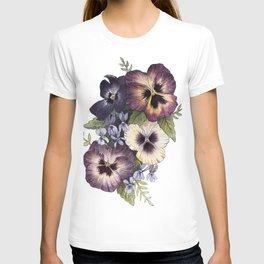 Watercolor Pansy Bouquet T-shirt