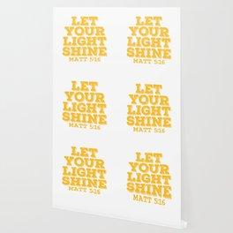 """A Shining Tee For A Wonderful You Saying """"Let Your Light Shine Matt 5:16"""" T-shirt Design Glowing Wallpaper"""