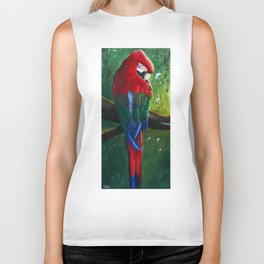 """Aras parrot - """"A morning like the others"""" - by LiliFlore Biker Tank"""