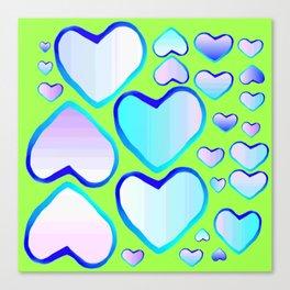 Garden of  hearts Canvas Print