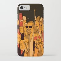 big lebowski iPhone & iPod Cases featuring The Big Lebowski by Ale Giorgini