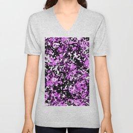 Orchid Splatter Paint Unisex V-Neck