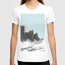 The Dolomites, Italy Travel Artwork T-shirt