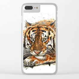 Tiger Wild and Free Clear iPhone Case