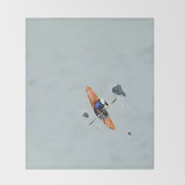 Solitude- Kayaker Throw Blanket