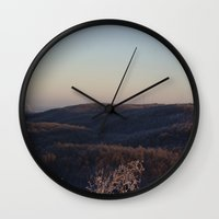 vermont Wall Clocks featuring Vermont, USA by Naturalistic