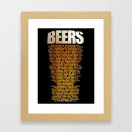 Beers types Framed Art Print