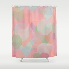 Hexagon, Square and Diamond Patterned Abstract Design Shower Curtain