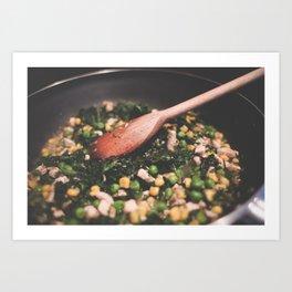 Healthy Cooking Art Print