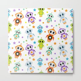 Fun Robots for Kids of All Ages Metal Print