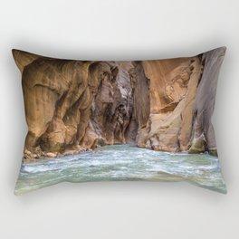 Swept Away (The Narrows, Zion National Park, Utah) Rectangular Pillow