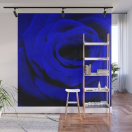 Expansion Blue rose flower Wall Mural