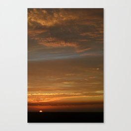 Crazy Sunset Canvas Print