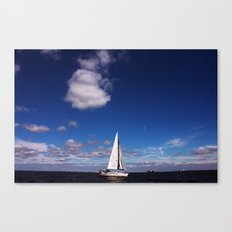 Blue Sky over the Bay Canvas Print