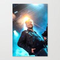 gorillaz Canvas Prints featuring Damon Albarn (Blur) - II by Tomás Correa Arce (RockMe TommyBoy)