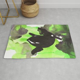 Diving Orca - Light Green Rug