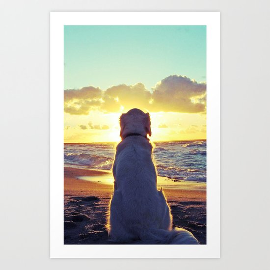 THE MOST BEAUTIFUL SUNSET OF MY LIFE Art Print