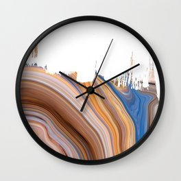 Sunset Marble Wall Clock