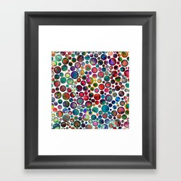 Dots on Painted Background 2 Framed Art Print